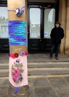 Guerrilla knitting in York
