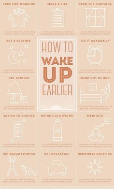 How to wake up earlier