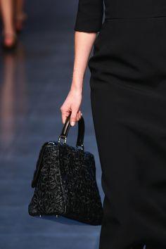 Dolce & Gabbana ss14 - black astrakan-like handbag