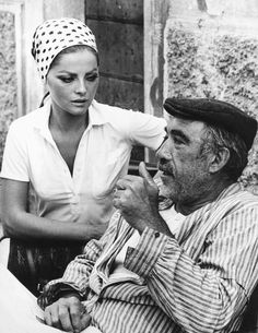 """Anthony Quinn and Virna Lisi in the film """"Zorba the Greek"""", 1964 Old Movies, Great Movies, Zorba The Greek, Art Noir, Anthony Quinn, Chef D Oeuvre, Love Movie, Best Actor, Film Movie"""