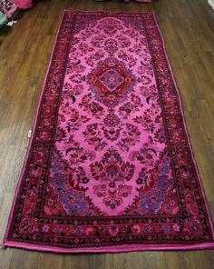 4×11 Overdyed Runner Vintage Tabriz Pink 2835