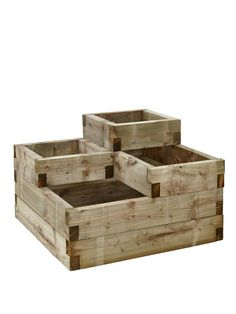 Plant a range of different things side by side with this Forest Tiered Raised Bed. This sturdy 4-tiered raised bed has multiple sections and holds a generous 270 litres of compost so you can plant different flora in each one, including plants, flowers, herbs and crops.The tiers are raised so it's compact and will fit snugly on your patio or in your garden or yard and is perfect for creating an eye-catching display.Useful info: Forest Tiered Raised BedIdeal for different types of…