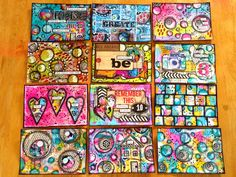 All of my week 3 ICAD's together. I've been a busy girl this week !!! | Flickr - Photo Sharing!
