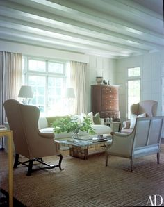 Wonderful pic's of the East Hampton home where Jackie Bouvier Kennedy spent her childhood summers - Home of designers Delphine & Reed Krakoff, listing by The Corcoran Group.