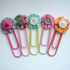 Paperclip bookmarks; these will be great for school