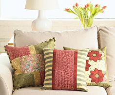 Pretty Fall Pillows  Make a sophisticated style statement on a budget with these classy accent pillows.
