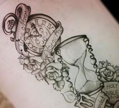 Clock sketch tattoo