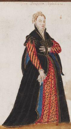 Mores Italiae, 1575 Renaissance Portraits, Renaissance Costume, Renaissance Clothing, Renaissance Fashion, Italian Renaissance, Elizabethan Costume, Elizabethan Era, Historical Costume, Historical Clothing