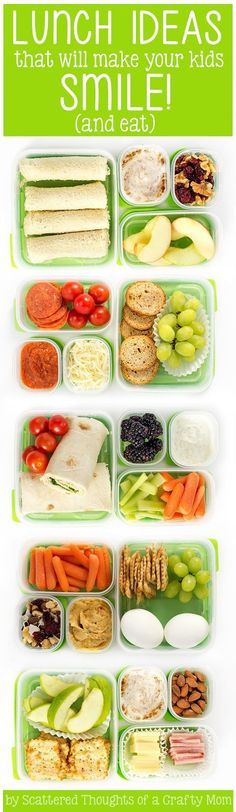 5 Lunch Ideas your kids will eat!  #lunchideas #kidlunches #backtoschool #menuplanning #schoollunchideas