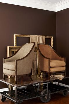 One chair, two ways. Ralph Lauren Home's Mayfair Bergère displays a beautifully feminine  silhouette