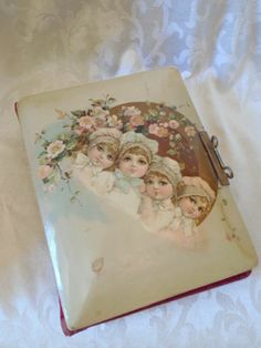 Chic Vtg Antique Shabby Celluloid Victorian Cherub Children Roses Photo Album   eBay