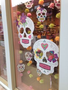 Seen in a shop window. Make small ones with card stock and large ones with poster board