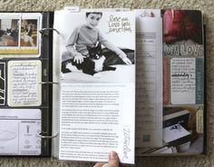 I love the idea of adding a 6x12 into Project Life for longer stories. May have to grab those templates by @Ali Edwards. And all her word art on photos is just lovely!