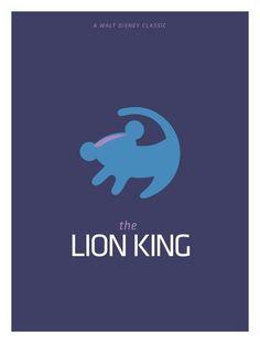 The Lion King (1994) ~ Minimal Movie Poster by Pedro Vidotto #amusementphile