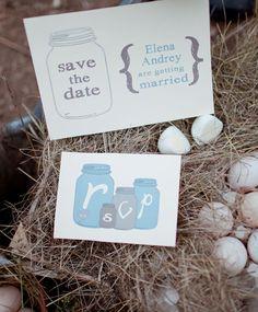 Free printable mason jar invite  #freebie #printable http://www.weddingchicks.com/2013/11/09/one-rainy-day/