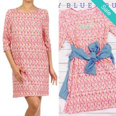 Spring print shift dress - On Sale for $20.00 (was $36.99) Shop Our Clearance Event! Tomorrow under the big tent 10am-3pm!