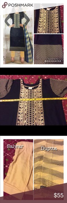 Indian Salwar Kameez Embroidery design stitch Indian Salwar Kameez size 42 Dresses