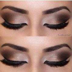 For a night out where drama and sophistication are the watchword, a smoky eye look could be just the thing. It doesn't take a makeup artist to do this, either; here's how to create smoky eyes with the makeup most people have at home. Kiss Makeup, Cute Makeup, Pretty Makeup, Simple Makeup, Makeup Goals, Makeup Inspo, Makeup Inspiration, Bridal Makeup, Wedding Makeup