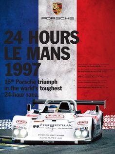 Porsche 1997 Le Mans Victory Poster