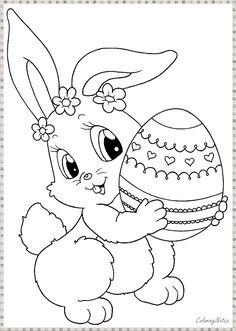 """Free Printable Easter Bunny Coloring Pages from Easter Coloring Pages. Easter is a celebration of Christians who commemorate the event of Jesus Christ being revived (or """"resurrected""""). Easter celebrations are popular wit. Easter Coloring Pages Printable, Easter Coloring Sheets, Easter Bunny Colouring, Bunny Coloring Pages, Pokemon Coloring Pages, Halloween Coloring Pages, Coloring Pages For Kids, Coloring Books, Adult Coloring"""