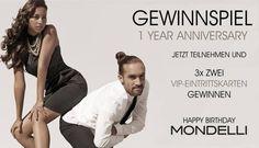 EXKLUSIVE – EINTRITTSKARTEN GEWINNEN  Was müsst Ihr tun? Schickt uns einfach eure kreativsten und ausgefallensten Glückwünsche zu unserem Jubiläum. Unter allen Teilnehmer verlosen wir 3x2 VIP-Eintrittskarten für unsere Aftershow Party am 28. September 2013 in der Odeon Lounge Würzburg.  Einsendeschluss ist der 26. September 2013. Die Gewinner werden per Facebook benachrichtigt. Wir freuen uns auf Eure Glückwünsche!  Euer Mondelli - Team