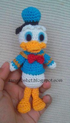 Gratis amigurumi Donald Duck - Amigurumi Donald is een van mijn favorieten,  Maar het is moeilijk om een gratis patroon te vinden, daarom he...