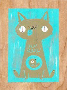 Illustration by Kali Meadows I Love Cats, Crazy Cats, Graffiti Artwork, Photo Chat, Here Kitty Kitty, Bad Kitty, Art Plastique, Cat Art, Neko