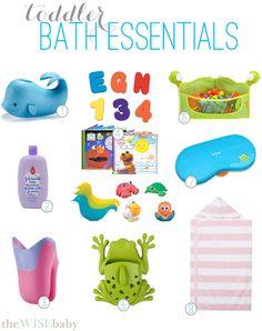 Toddler bath essentials!