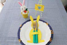 talheres de coelho, decoração páscoa, mesa posta, diy, faça você mesmo, projeto de páscoa, porta talheres