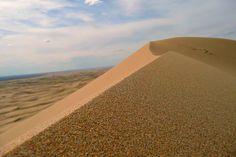 Khongor sand dune -rolling velvet smooth sand dunes