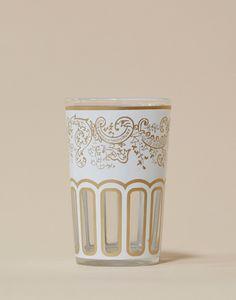 Moroccan Tea Glasses in White
