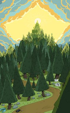 Dan Bandit aka GHOSTSHRIMP created and designed the world for Adventure Time, here are his favorite backgrounds from season one! Background Drawing, Cartoon Background, Animation Background, Adventure Time Seasons, Adventure Time Style, Adventure Time Background, Adventure Time Wallpaper, Anime City, Perspective Art