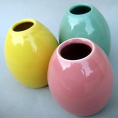 Pastel Egg Vase Trio by alinahayesceramics on Etsy, $32.00