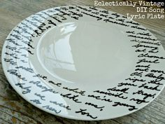 How-To: Painted Song Lyrics Plate
