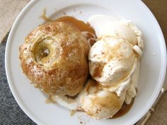 yummy fall dinner party menu, topped off with caramel apple dumplings.
