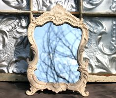 Baroque Ornate 8 x 10 Creamy Ivory  Mirror Frame/ Wedding Decor/ Ornate Frame/ Chalkboard / Shabby Chic Nursery Decor. $48.00, via Etsy.