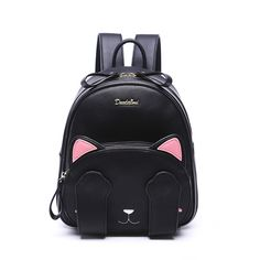 MSMO Kawaii Cat Ear Backpack Black Preppy Style School Backpacks For Teenage Girls College Style Casual Backpack Sac Mochilas ** Read more info by clicking the link on the image. Rucksack Bag, Backpack Bags, Sac College, Fashion Bags, Fashion Backpack, Fashion Women, Black Backpack School, Kitty Backpack, Estilo Preppy