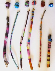Painted sticks and rocks by lilyismyname on Etsy, $30.00
