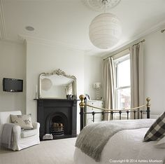 Master bedroom in Kelly Ann & Dominic Preston's Victorian mid terrace townhouse in Belfast.
