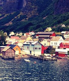 norway... how I'd love to boat up the fjords.