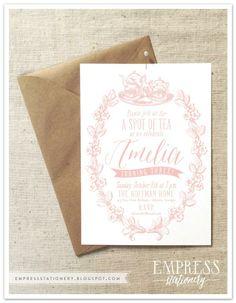 Empress Stationery | Spot of Tea Birthday Invitation