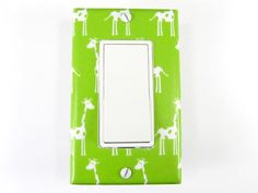 Giraffe Decora Switch Plate Cover in Green  Custom by twowhiteowls, $12.00