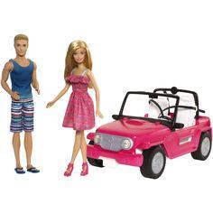 BARBIE® Beach Cruiser™ + Barbie® & Ken® Dolls - Shop.Mattel.com