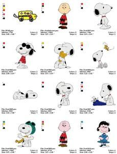 SNOOPY PEANUTS MACHINE EMBROIDERY DESIGNS