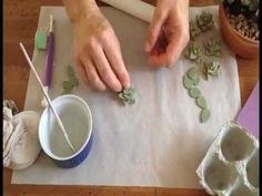 How to make gum paste succulents - YouTube. These are small succulents without wires
