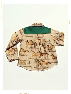 C is for Cowboy Boys' Collared Shirt. Limited Edition by HUIT NEUF DIX by Fleur + Dot. #fleuranddot #handmade #fashion #kids