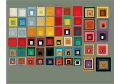 Josef Albers 'Colours harmonies squared'