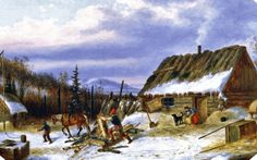 American Women: Women on the North American Canadian Frontier in - by Dutch-born Cornelius Krieghoff Canadian Painters, Canadian Artists, Artist Painting, Painting & Drawing, His Travel, Cornelius, Watercolor Art, Dutch, History