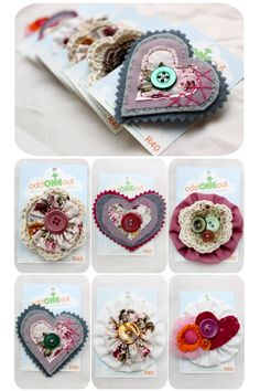 some handmade brooches from my vintage product line<3