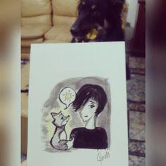 #inktober #ink #art #drawing #painting #sketch #comic #cartoon #fox #arte #desenho #raposinha #nina #roselices 10.2015